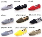 Free shipping 2013 brand new women and men canvas shoes canvas flats loafers casual single shoes solid sneakers for women()