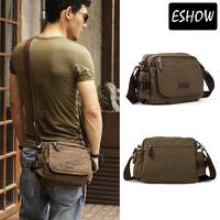Eshow military small satchel bag canvas bag men shoulder bags messenger bag BFK010531