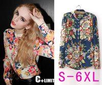 New 2014 blusas femininas shirt Women Blouse 2 color plus size blusa Casual Women Work Wear  Tops S M L XL XXL XXXL XXXXL 5XL