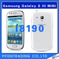 Original unlocked samsung GALAXY s3 SIII mini I8190 mobile phone 16GB 4.0 GPS WiFi Dual core 5.0MP refurbished  Free shipping