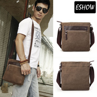 Shopping Festival 60% OFF Eshow Canvas men messenger bags cross body bags men's bags small shoulder bag Free shipping BFK010741