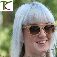 Free Shipping HD Polarized Zebra wood and bamboo sunglasses women and men can mix order sun glasses new products for 2013 (WA18)