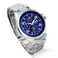 #CW0138 Wholesale full steel men quzrta watch High Quality Fashion & casual watches silicon men's wristwatches