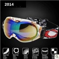 clearance promotion ski goggles multip-color/dual lens uv-protection anti-fog Winter snow ski goggles glasses