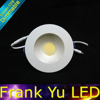 FREE SHIPPING-dimmable 5w ceiling -lamp citizen led spotlight ceiling white shell 5w cob mini body panel small flat led lights