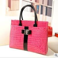 Free Shipping!2013 Hot Sale Women Handbag  Luxury OL Lady Women Crocodile Pattern Hobo Handbag