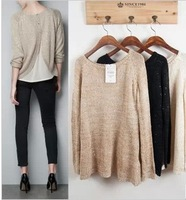 2013 New Arrival 3 Colours Fashion Coat Knitted Sweater crochet Blouse!