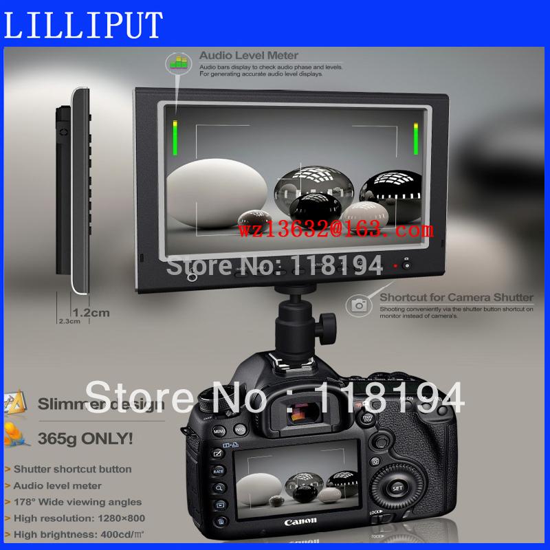 Free Shipping Lilliput 7 Inch 664 IPS Monitor with HDMI input(China (Mainland))