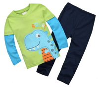 Excellent Quality Children's Autumn Tee Sets Boy's Spring Long-sleeved Knitted Tshirt Suit, 100% Cotton - JBLS24/85/89/90/91/96