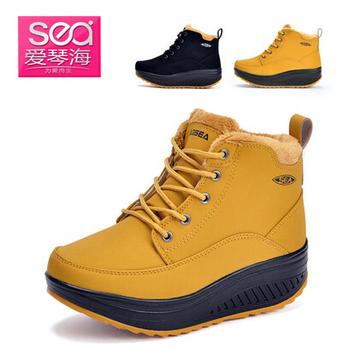 { D&T Shop} 2013 Winter Plus Velvet Warm Sneakers For Женщины Swing Wedges Высота ...