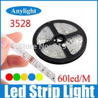 Led strip light smd 3528 RGB Green/ Blue / Red / White /Warm White 60led/m 300 Leds for home decoration WLED17