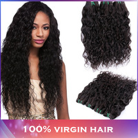 Malaysian Water Wave Human Hair Extensions Virgin Malaysian Hair Weaves Natural Black 3pcs lot Malaysian Hair 100g/pc 8-32 inch