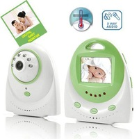 2.4GHz Wireless Digital Baby Monitor 2.4inch LED Display Screen with Two Way Audio TV out Function Free Shipping
