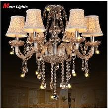 Beautiful modern K9 Crystal Pendant Chandelier lights Include Lamp Shade , Vintage chandelier light W60CM X H60CM Lighting Lamps(China (Mainland))