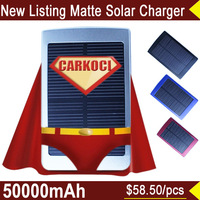 2015 Brand portable solar power charger 50000mah portable solar power bank 4 color portable solar battery for iPhone 6 samsung