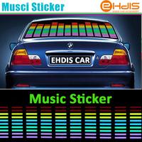 LED Sound Music Activated EL Car Stickers Equalizer Glow Flash Panel Multi Colour Light Flashing Music Rhythm Light Lamp sticker