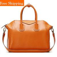 Hot Celebrity Smiley Bag Tote Designer Brand Shoulder Bags Women 2014 Cowhide Designer Brand Office Lady Popular Tote Handbag