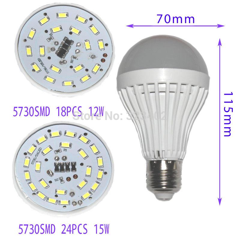 LED bulb lamp bulbs led lights E27 5w 7w 10w 2835smd 1W 6W 9W 12W 15W 5730SMD Quality Assurance High brightness AC220V 230V 240(China (Mainland))