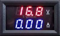 New Red Blue LED DC 0-100V 10A Dual Digital Voltmeter Ammeter Current Meter Panel Amp Volt Gauge #6 TK1382