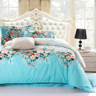 2014 NEW Hot!!!Free Shipping 82 Types Reactive Printing BEDDING 4PCS Bedding Set pillowcase queen king size QUILT COVER BED SET(China (Mainland))