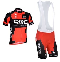 New 2014 Red Team cycling jersey/cycling clothing/ cycling wear+short bib suit Men breathable quick dry Summer S-3XL