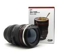 2014 New Arrival 1:1 EF 24-105mm F/4.0L Coffee Camera Lens Mug Cup ABS + Silicone + Stainless Steel B2 OS000122