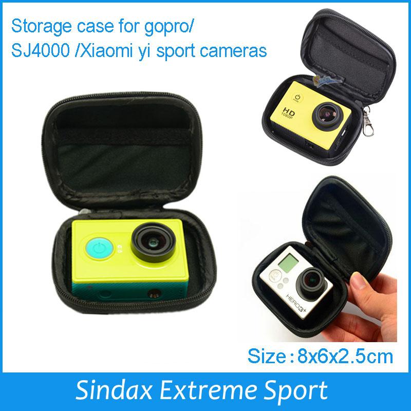 Camera Case for xiaomi yi Camera Waterproof Storage Portable Camera Bag for Gopro Hero 4 3 2 SJ4000 Accessories Small 8x6x2.5cm(China (Mainland))
