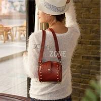 Drop Shipping Good Quality Women Korean Style Fashion Retro Rivets Camera Purse Messenger Bag Handbag Drop Shipping B9 SV002391