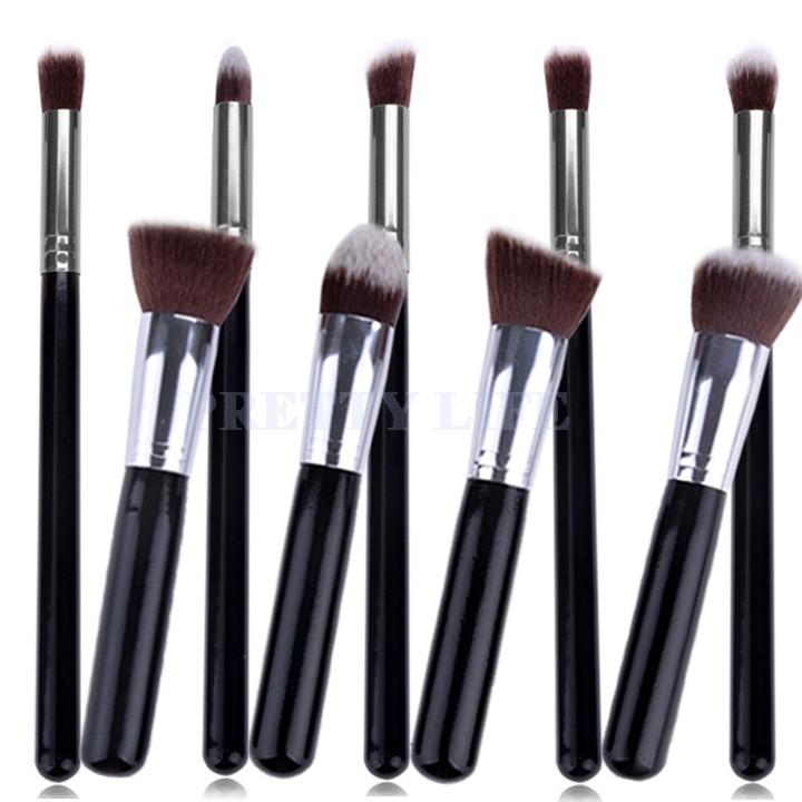 Best Quality 9pcs Makeup brushes Premium Synthetic Make up Brush Set Tools Kit Professional Cosmetics Silver Drop Shipping B26(China (Mainland))