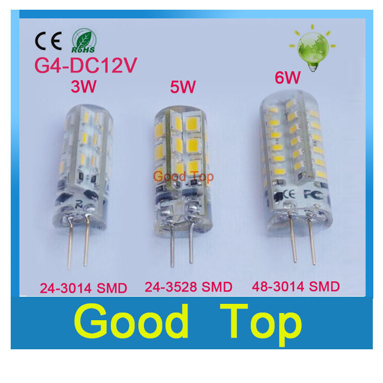 High Power G4 led lamp 3W 5W 6W DC12V Led bulb SMD2835 LED light 360 Beam Angle LED Spotlight Replace 30/60W halogen lamps light(China (Mainland))