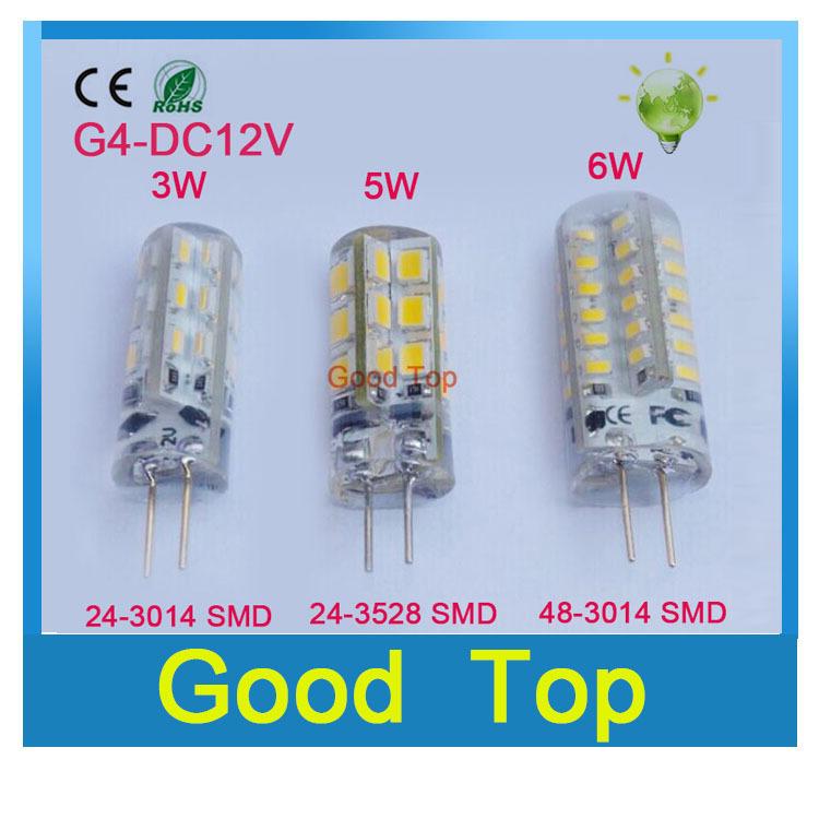 High Power G4 led lamp 3W 5W 6W DC12V Led bulb SMD2835 LED light 360 Beam Angle LED Spotlight Replace 30/60W halogen lamps light(China (Mainland))