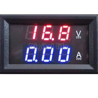 High Quality Red Blue LED DC 0-100V 10A Dual Display Digital Ammeter Voltmeter Current Meter Panel Amp Volt Gauge SV21 CB029320