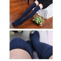 Stylish Sexy Women Thigh Knitting Socks High Stockings Pantyhose Hot Female Stocking Over Knee Socks SV21 SV010733