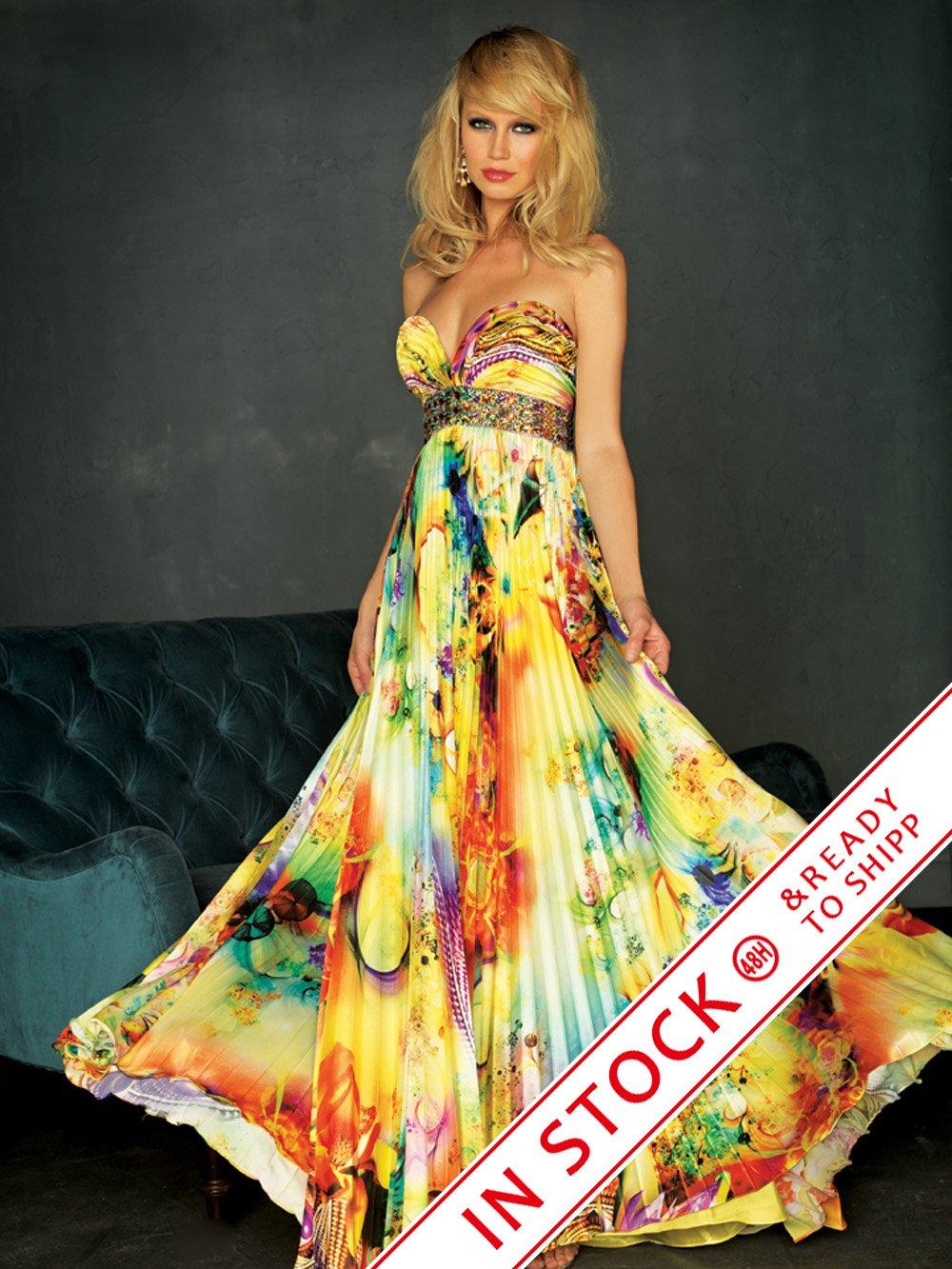 Длинные яркие платья