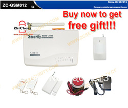 free shipping wired &amp; wireless home GSM alarm system with built-in speaker &amp; MIC for intercom + Voice operation Russian manual(China (Mainland))