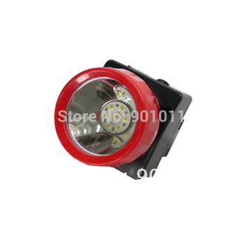 12pcs/lot Hot Sale Red Ring LED Headlamp Miner Light