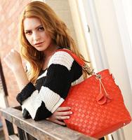 2015 100% Real leather ,genuine leather fashion designer handbag Tassel tote shoulder clutch women messenger bags