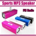Sports MP3 Player Mini Mobile Music Speaker Portable Sound box Boombox with TF Card reader USB + FM Radio -UK2