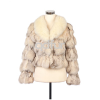 QD10927 11 Colors Genuine Fox Fur Jacket female short real fur Outwear charm dress garment/OEM Free shipping/retail/wholesale