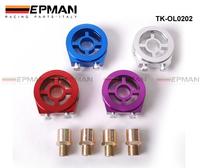 Tansky - Oil Filter Cooler Sandwich Plate Adapter (Blue,Purple,Red,Silver) TK-OL0202