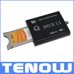 Freeshipping !!Hot selling TBS 5980 USB DVB S2 TV QBox CI to watch payTV on laptop(China (Mainland))