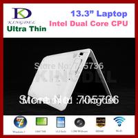 "Kingdel 13.3"" Super Thin laptop, Notebook Computer, Intel D2500 Dual Core 1.86Ghz, 2GB +320GB, Webcam, 4500mah Battery, HDMI"