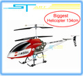 Free shipping Update Biggest 134cm QS8006 rc helicopter 3.5ch Gyro 2 Speed helicopter qs 8006 W/ LED lights RTF drop shipping