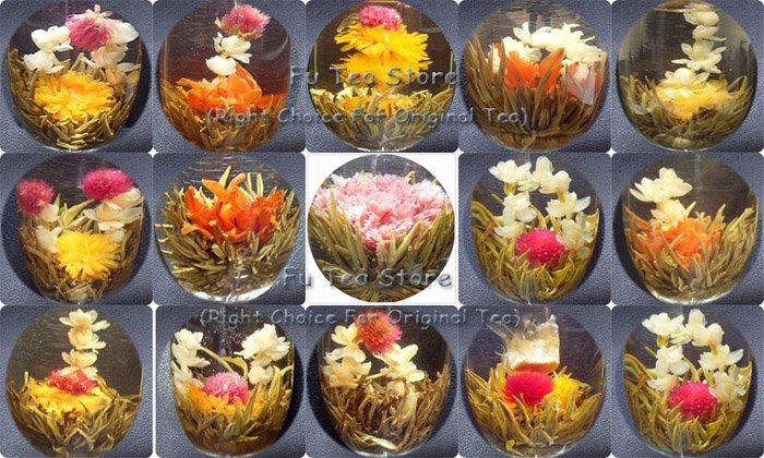 2015 NEW Flower Ball 16 pieces flower blooming tea, beautiful superdry original blooming flower tea, handmade Jasmine green tea(China (Mainland))