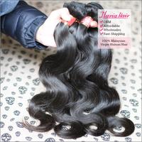 Rosa Hair Products Malaysian Body Wave Virgin Hair Extension 4Pcs/Lot 6A Unprocessed Human Natural Black Hair Weave ShippingFree
