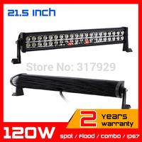 21.5inch 120w Led Work Light Bar IP6712v 24v  for Tractor ATV Offroad Fog LED Worklight Auto External Light Save on 180w 240w