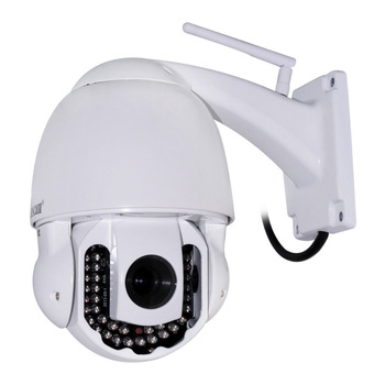 New Dome Helmet PT Pan/Tilt Speed IR CUT Waterproof Outdoor Wanscam CCTV Night Vision Security Network Wireless WiFi IP Camera