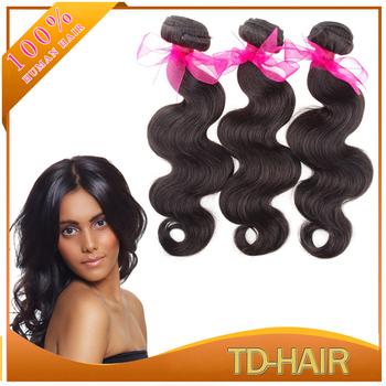 Cheap Price 5A Brazilian Virgin Hair Body Wave Human Hair Weaves Unprocessed hair bundles 3pcs lot natural color 1b#