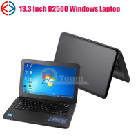 cheap Intel D2500 Notebook 13.3 inch Dual core laptop with Dvd burner wifi bluetooth webcam 2G 320G