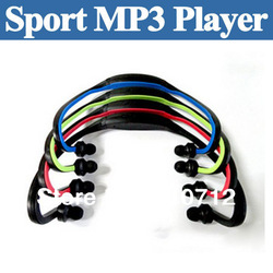 Hot Sale!!! Brand New Wireless Portable Wrap Around Headphones Sport MP3 Player Headset TF Card Player Free shipping(China (Mainland))